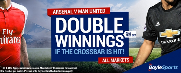 Arsenal v Man United with BoyleSports